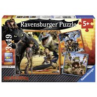 Ravensburger - Puzzle Dragons, 3x49 piese