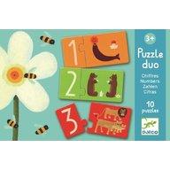Djeco - Puzzle duo Numere