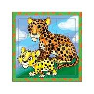 MamaMemo - Puzzle educativ leoparzi, 18m+