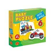 Alexander Toys - Puzzle educativ Moto , Puzzle Copii , 6 imagini, Mega Box, piese 27