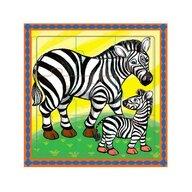 MamaMemo - Puzzle educativ zebre, 18m +