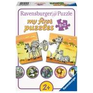 Ravensburger - Puzzle Familii Animale, 9x2 Piese