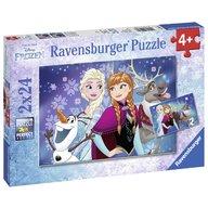 Ravensburger - Puzzle Frozen, 2x24 piese