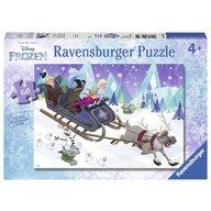 Ravensburger - Puzzle Frozen prieteni pentru totdeauna, 60 piese
