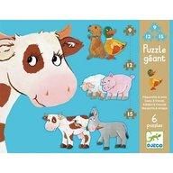Djeco - Puzzle gigant Animale de ferma