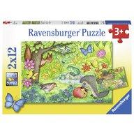 Ravensburger - Puzzle Gradina, 2x12 piese