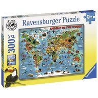 Ravensburger - Puzzle Harta animalelor, 300 piese
