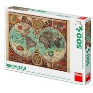 Dino Toys - Puzzle Harta lumii din 1626 (500 piese)