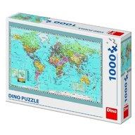 Dino Toys - Puzzle Harta politica a lumii 1000 piese