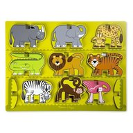Melissa & Doug Puzzle In Relief Animale De La Zoo