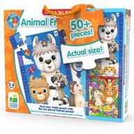 THE LEARNING JOURNEY - Puzzle de podea Animale prieteni Inalt Puzzle Copii, piese 50