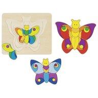 Goki - Puzzle din lemn Fluturi Incastru Puzzle Copii, piese11
