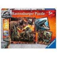Ravensburger - Puzzle Jurassic World, 3x49 piese