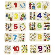 Goki Puzzle lemn cu autocorectie invata Numerele