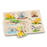 New Classic Toys - Puzzle lemn, Safari