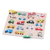 New Classic Toys - Puzzle lemn, Vehicule