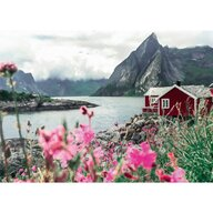 Ravensburger - Puzzle peisaje Lofoten Norvegia Puzzle Adulti, piese 1000