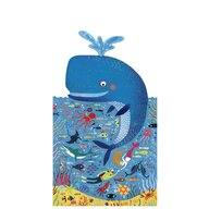 Londji - Puzzle animale Balena albastra in ocean , Puzzle Copii, piese 36