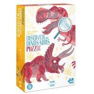 Londji - Puzzle educativ Descopera dinozaurii , Puzzle Copii, piese 200