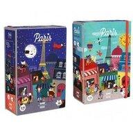 Londji - Puzzle orase Noapte si zi la Paris , Puzzle Copii, piese 36