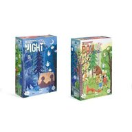 Londji - Puzzle animale Zi si noapte , Puzzle Copii , Reversibil, piese 54