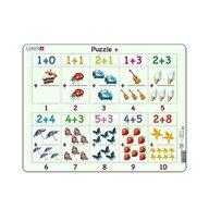 Larsen - Puzzle maxi Adunari cu imagini, orientare tip vedere, 20 de piese,