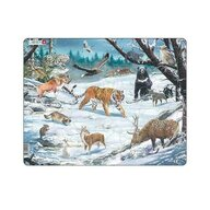 Larsen - Puzzle maxi Animale salbatice din Siberia  orientare tip vedere  66 de piese