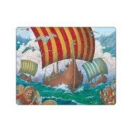 Larsen - Puzzle maxi Corabiile vikingilor  orientare tip vedere  64 de piese