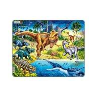 Larsen - Puzzle maxi Dinozauri din perioada cretacica  orientare tip vedere 57 de piese