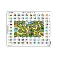 Larsen - Puzzle maxi Hai sa invatam engleza la gradina zoologica  orientare tip vedere  70 de piese