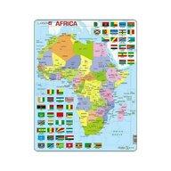 Larsen - Puzzle maxi Harta Africii  orientare tip portret  70 de piese