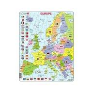 Larsen - Puzzle maxi Harta Europei  orientare tip portret  48 de piese
