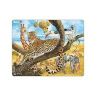 Larsen - Puzzle maxi Leopard  orientare tip vedere  48 de piese