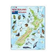 Larsen - Puzzle maxi Noua Zeelanda cu animale (limba engleza)  orientare tip portret  71 de piese
