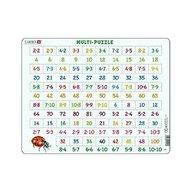 Larsen - Puzzle maxi Numere intre 1 si 100 si inmultiri, orientare tip vedere, 58 de piese,