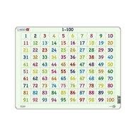 Larsen - Puzzle maxi Numerele de la 1 la 100, orientare tip vedere, 100 de piese,