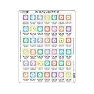 Larsen - Puzzle educativ Ora pe ceas , Puzzle Copii , Maxi, Orientare tip portret, In engleza, piese 42