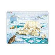 Larsen - Puzzle maxi Ursi polari  orientare tip vedere  54 de piese