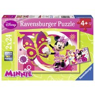 Ravensburger - Puzzle - O zi cu Minnie, 2x24 piese