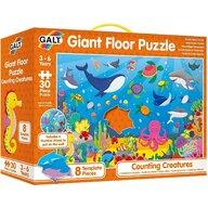Galt - Puzzle de podea Numaram animalute marine , Puzzle Copii, piese 30