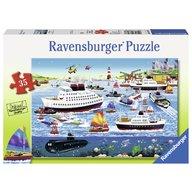 Ravensburger - Puzzle Port fericit, 35 piese