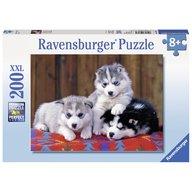Ravensburger - Puzzle Pui de huskie, 200 piese