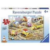 Ravensburger - Puzzle Santier in lucru, 35 piese