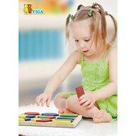 Viga - Puzzle din lemn Sortator cu forme geometrice si fractii , Puzzle Copii, piese 18