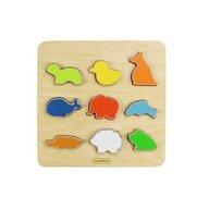 Masterkidz - Puzzle sortator de forme (animale), din lemn, +2 ani,