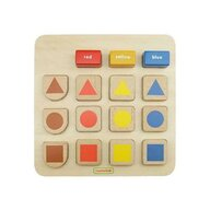 Masterkidz - Puzzle sortator dupa forma si culoare  din lemn  +2 ani