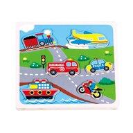 New Classic Toys - Puzzle transport cu sunete