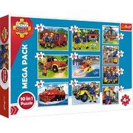 Trefl - Puzzle personaje Echipa Pompierului Sam , Puzzle Copii , 10 in 1, piese 329