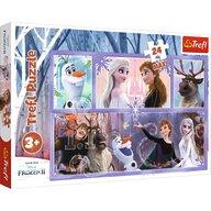 Trefl - Puzzle personaje Frozen 2 - O lume magica , Puzzle Copii , Maxi, piese 24