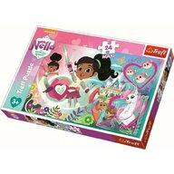 Trefl - Puzzle personaje Printelese neinfricate , Puzzle Copii , Maxi, piese 24